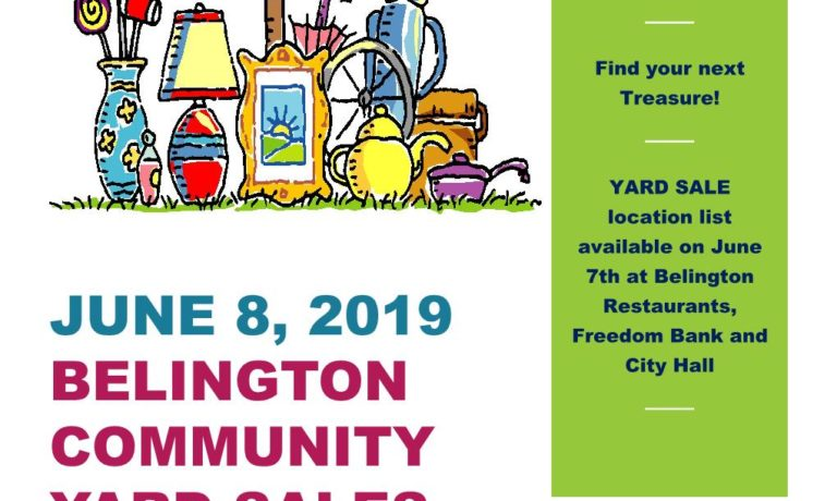 2019 Belington Community Yard Sale Set For June 8th.
